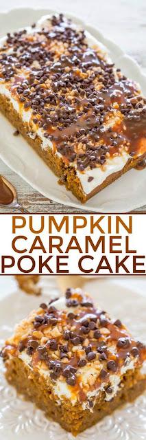 Pumpkin Caramel Poke Cake