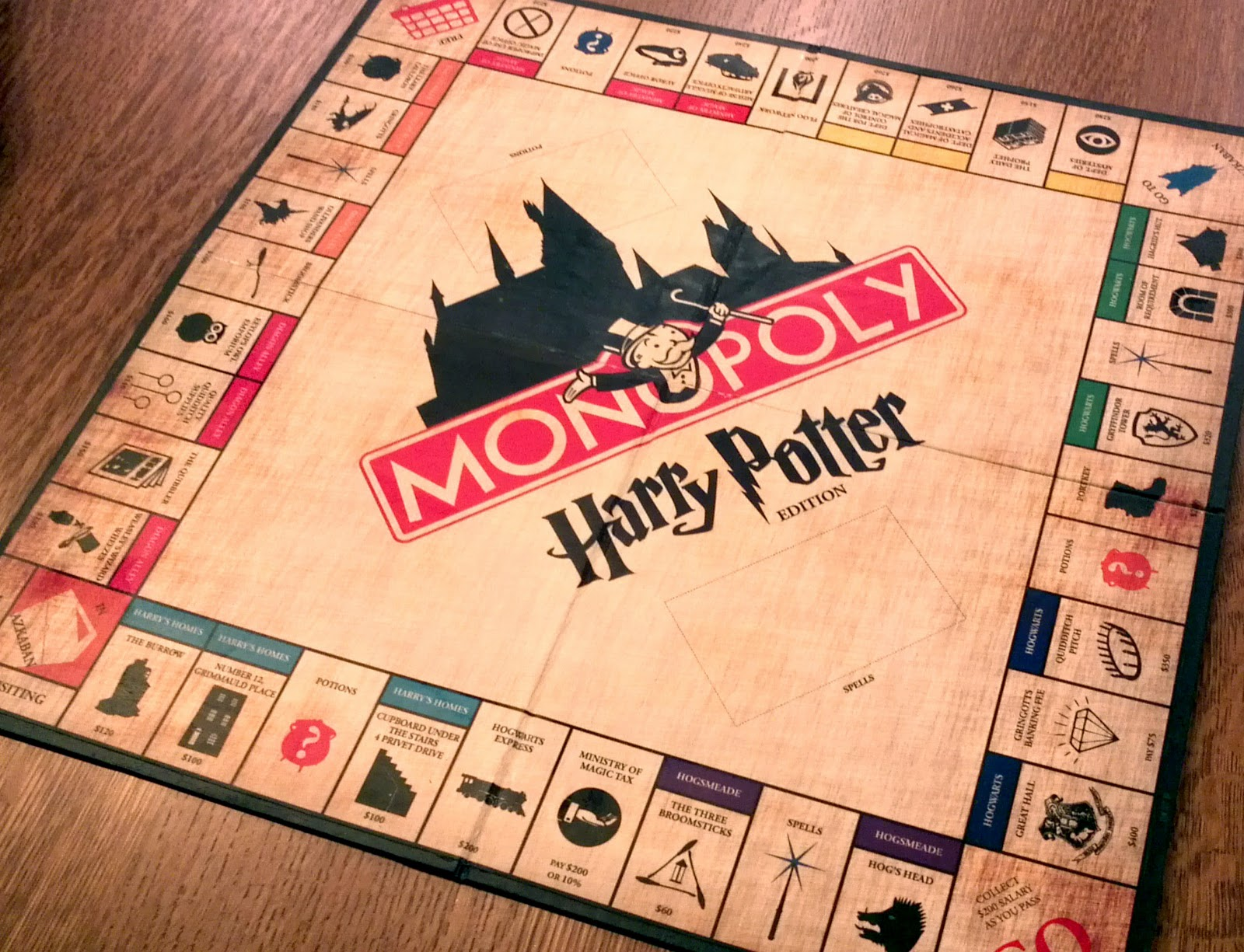 Harry Potter Monopoly Board
