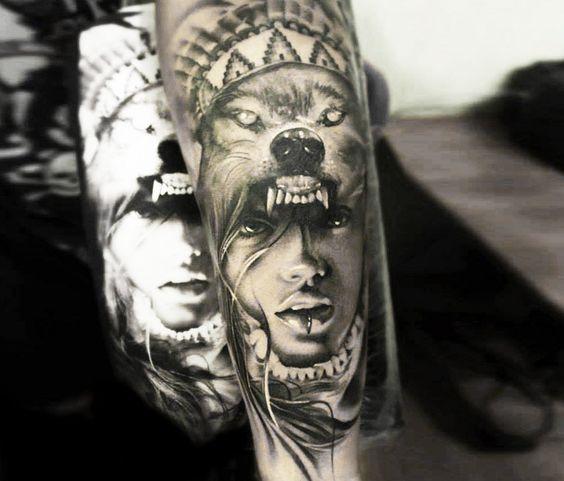 Tatuajes de indios americanos y dise os para tatuarse for Calavera lobo