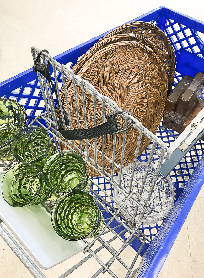 Thrift store baskets