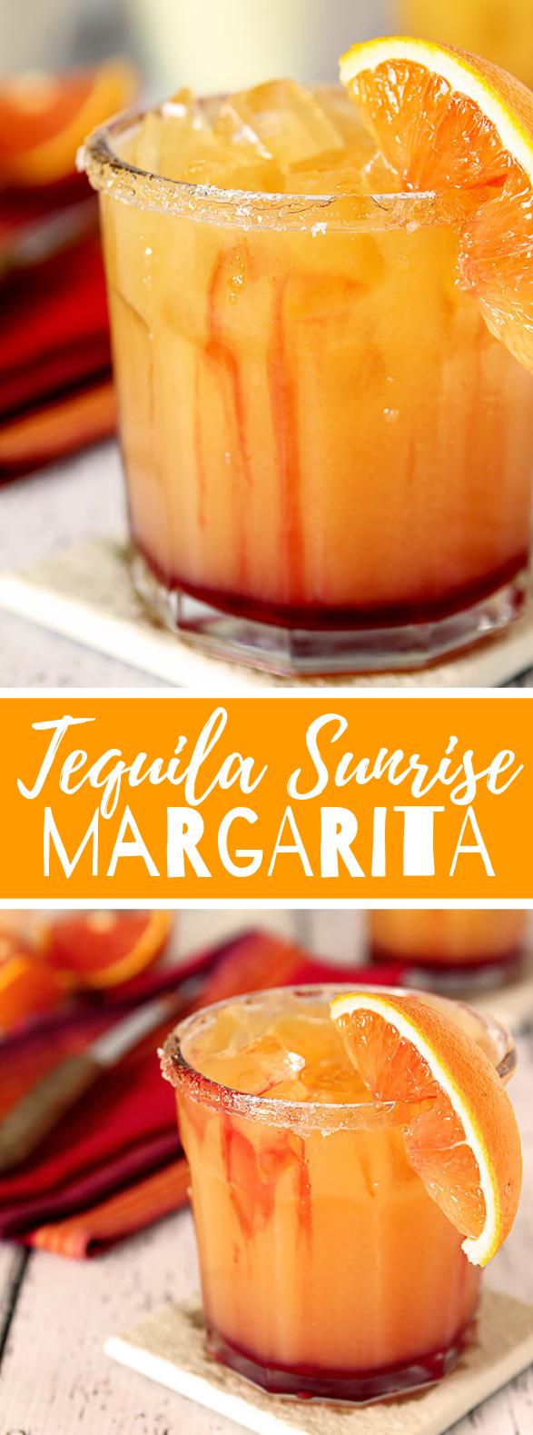 Tequila Sunrise Margarita #drink #freshdrink