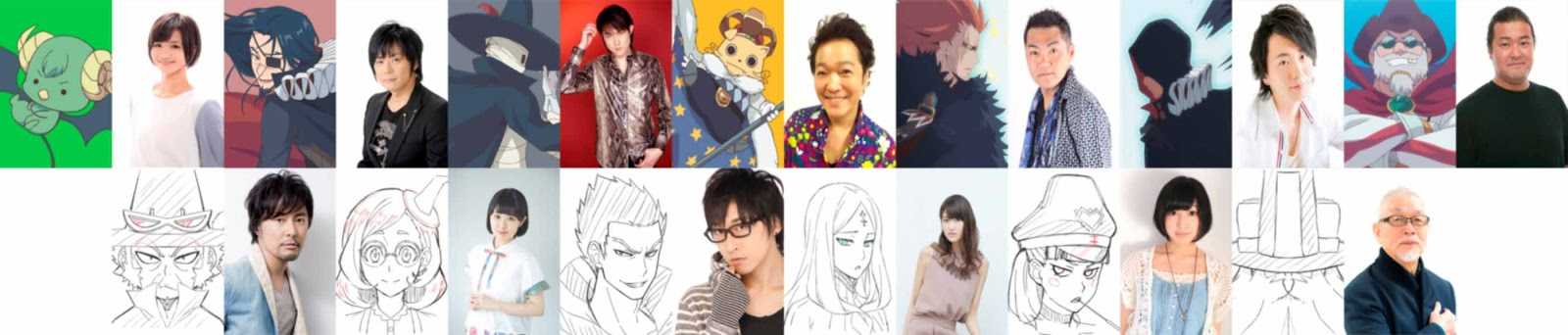 Radiant anime reparto