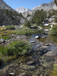 Wide, shallow creek below Ruby Lake, John Muir Wilderness, Eastern Sierras, California