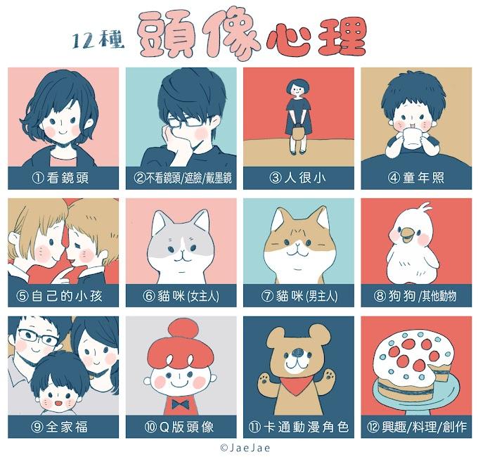 日本《12種頭像》心理測驗