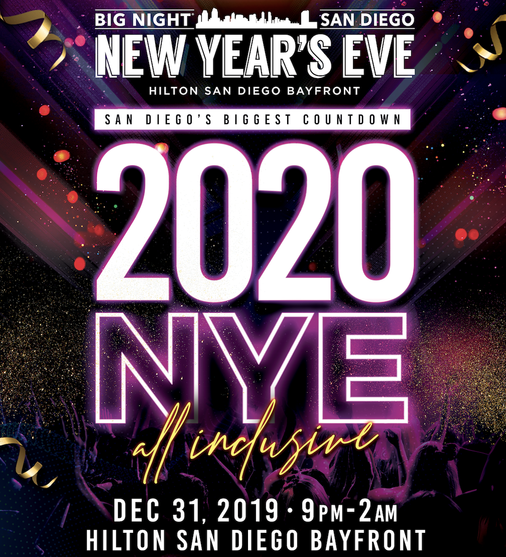 Use promo code SDVILLE to save $10 per ticket to Big Night San Diego New Year's Eve Gala 2020!