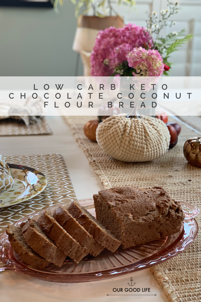 Low Carb Keto Chocolate Coconut Flour Bread