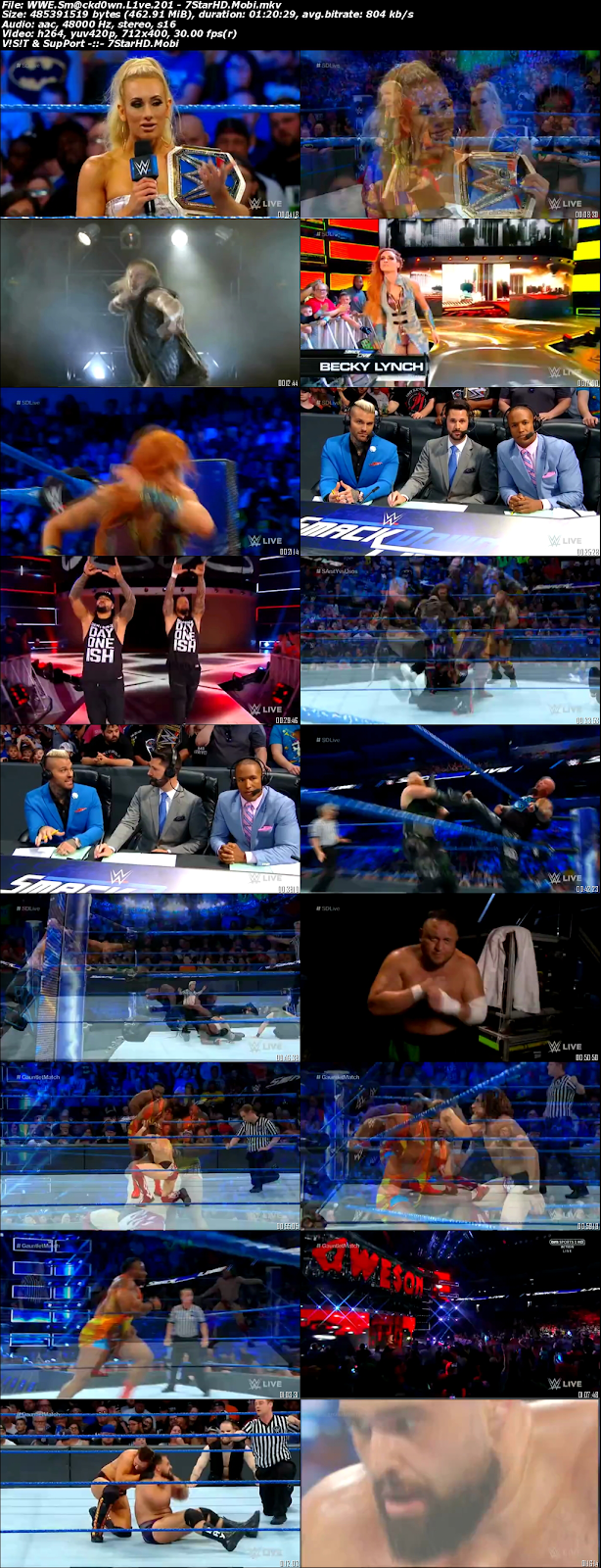 WWE Smackdown Live 19th June 2018 450MB HDTV 480p x264 2