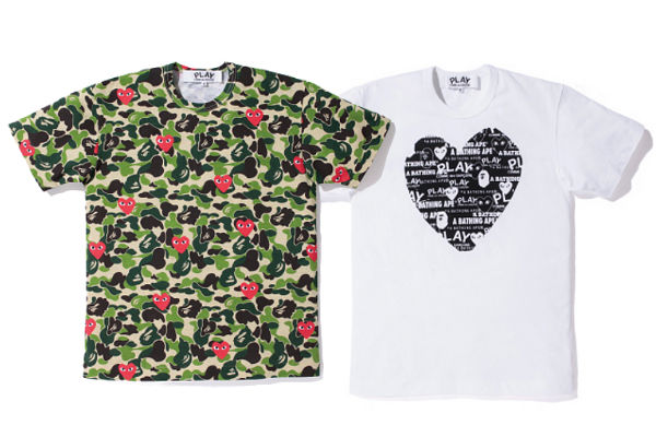 117c04c3 A Bathing Ape x Comme des Garcons PLAY Collection - FADED4U