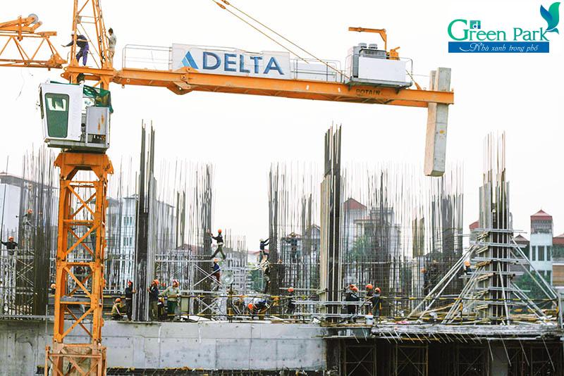 Delta nhà thầu xây dựng dự án PD Green Park