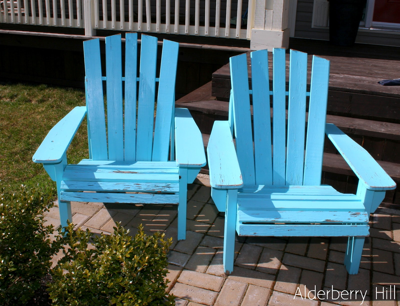 Aqua Adirondack Chairs Chaise Lounge Patio Chair Alderberry Hill Refreshed