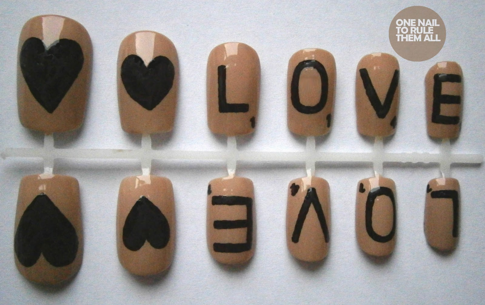 Scrabble Love Nail Set Nail Art Designs