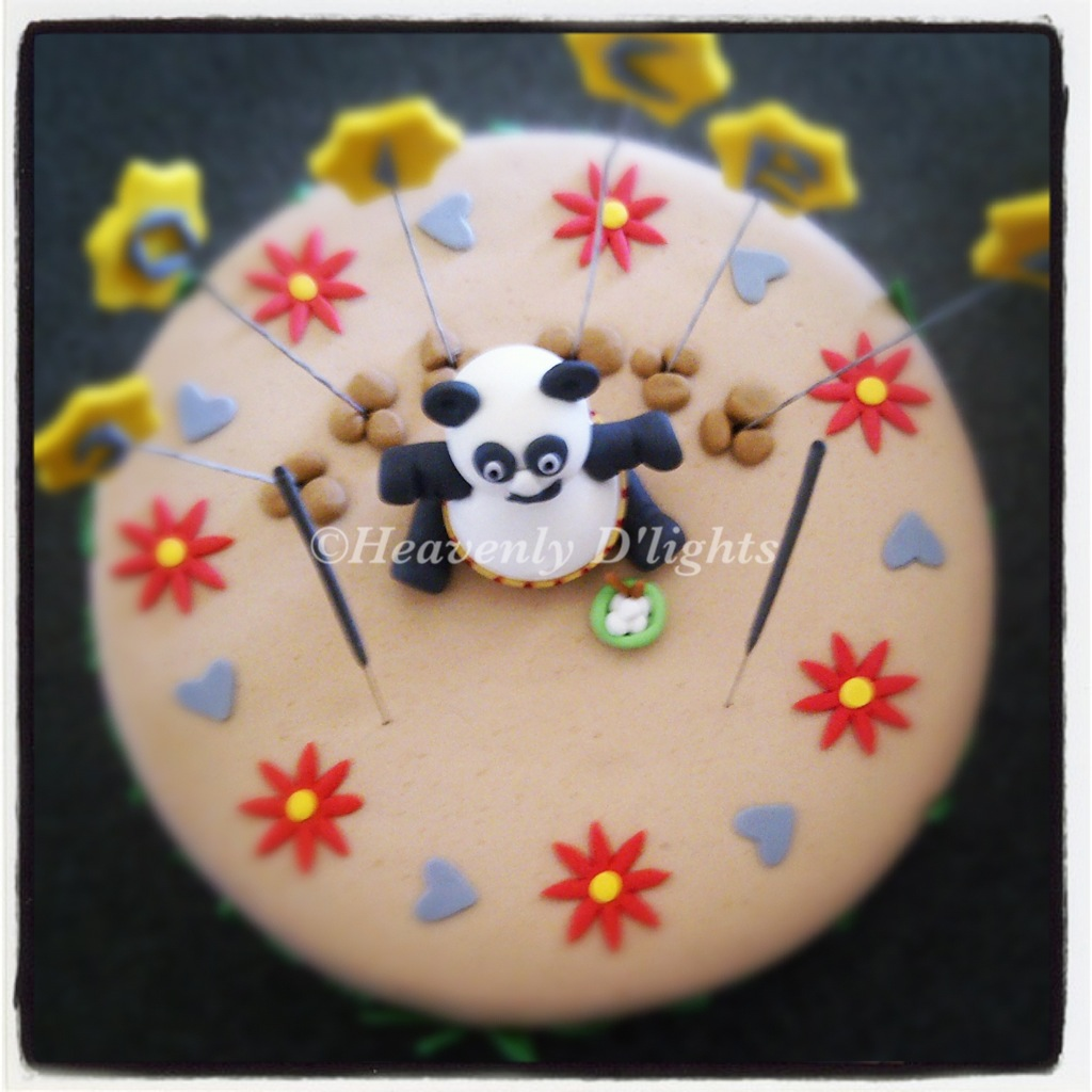 Heavenly Dlights Kungfu Panda Birthday Cake