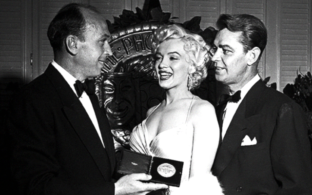 Alan Ladd and Marilyn Monroe PhotoPlay Awards 1954