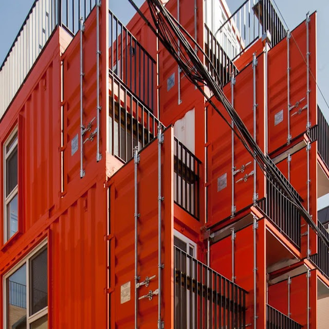Shipping Container 4 Story House - Office, Cafe and Hotel in Seoul, South Korea 6