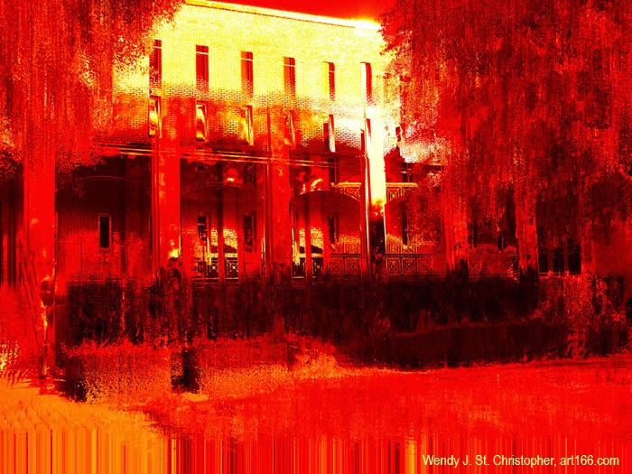 Burning hot southern landscape image by Wendy J St Christopher art166.com