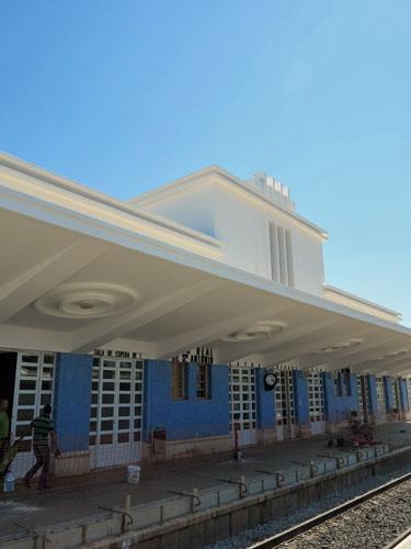 Vila Real de Santo Antonio Station, Algarve, Portugal.