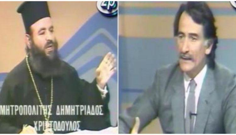 Εκκλησιαστική περιουσία: Η «επική» τηλεοπτική μάχη Τρίτση με Χριστόδουλο-Ανθιμο το 1987