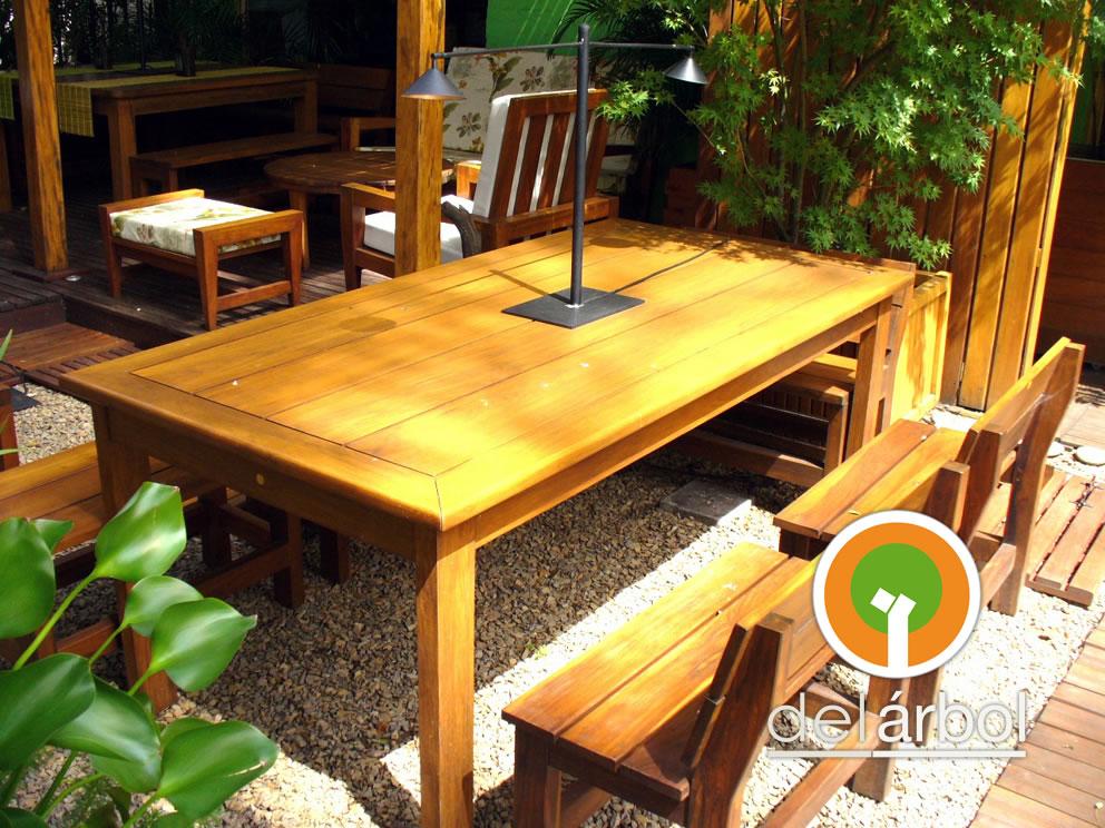 Del arbol f brica de muebles de madera mesa coleman de for Fabrica de muebles de madera