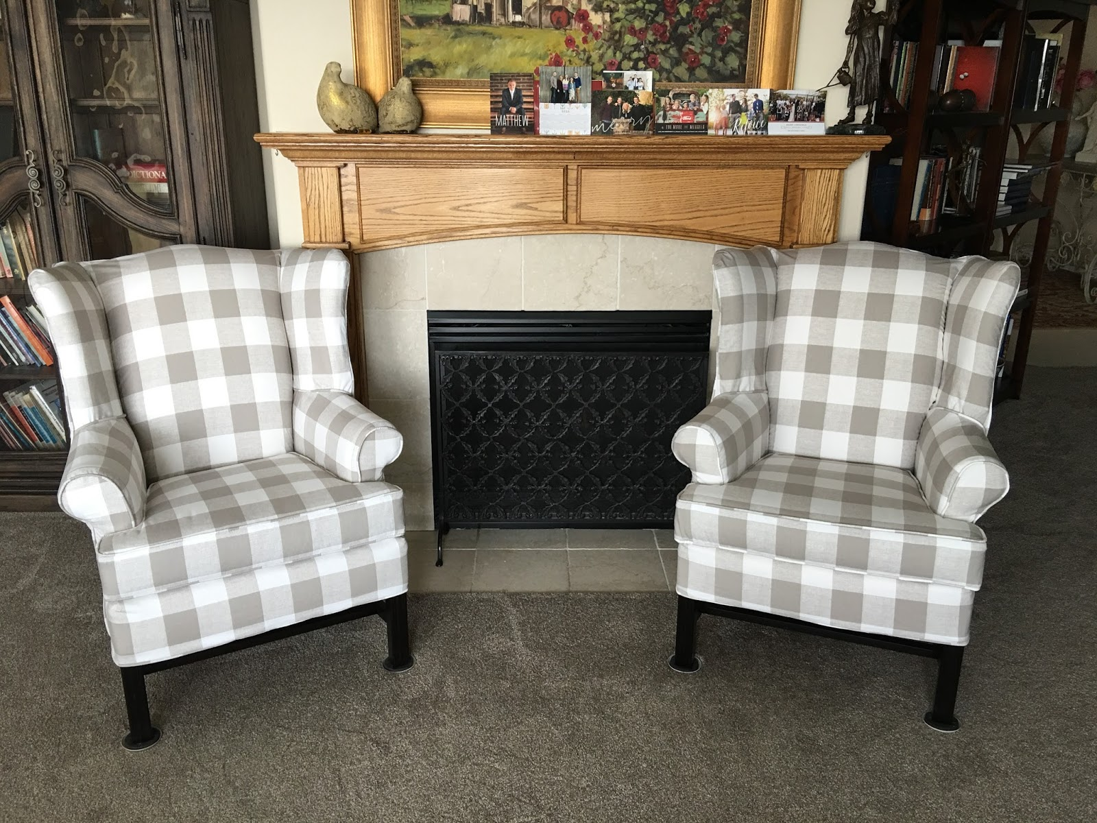 This Buffalo Check Is Amaze Balls!! It Can Practically Go With ANYTHING!  While I Was There Look At Other Furniture For Her I Saw The Chairs ...