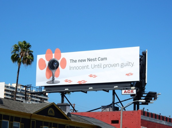 Nest Cam paw print special extension billboard