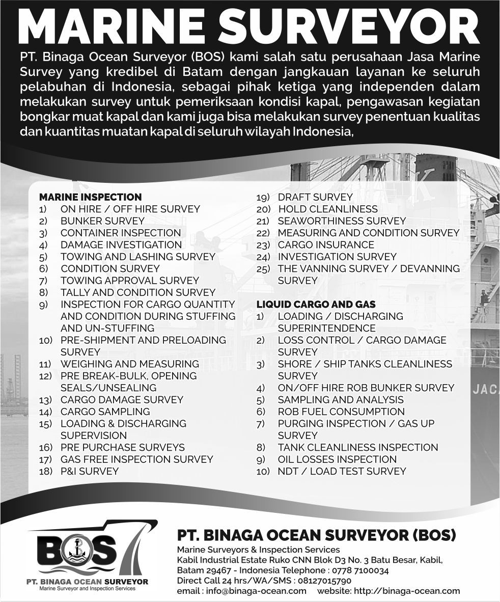 Marine Surveyor di Surabaya