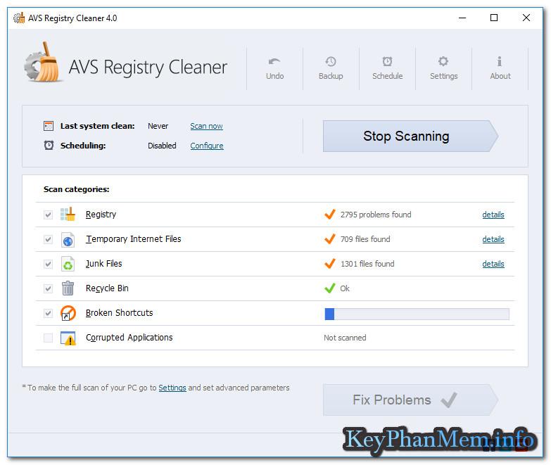 Download AVS Registry Cleaner 4.1.1.286 Full Key, Phần mềm dọn dẹp và sửa lỗi hệ thống Windows rất tốt