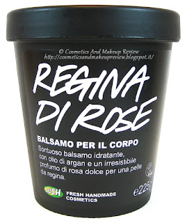 LUSH - Regina di Rose Balsamo corpo - packaging