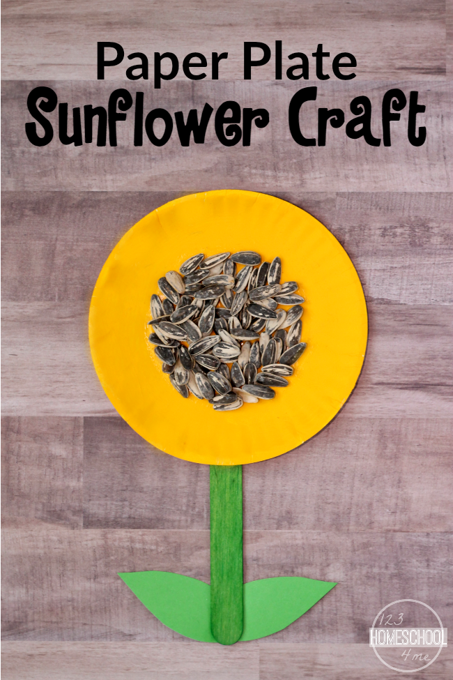 Sunflower Craft - super cute simple to make flower craft for toddler preschool & Simple Sunflower Craft