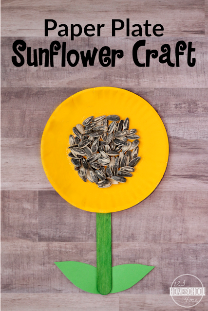 Sunflower Craft - super cute, simple to make flower craft for toddler, preschool, prek, kindergarten, first grade (spring crafts, kids activities)