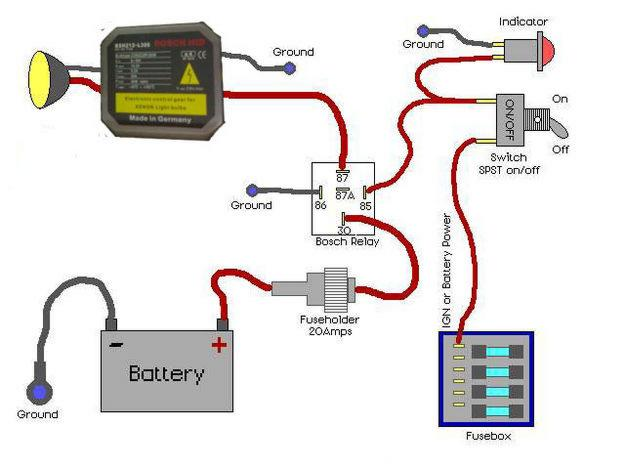 Helprelay wiring diagram for headlight | Motorcycle