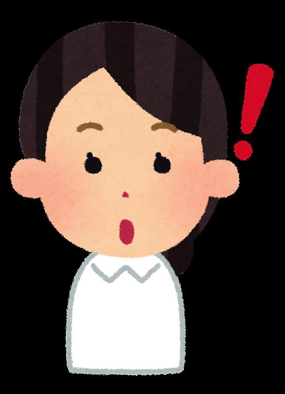 女性看護師さんの表情のイラスト2ナースキャップ無し かわいい