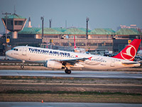 Turkish Airlines jet lifts off