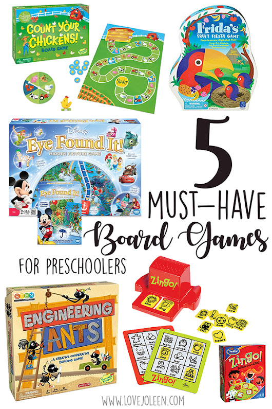 5 Must-Have Board Games for Preschoolers