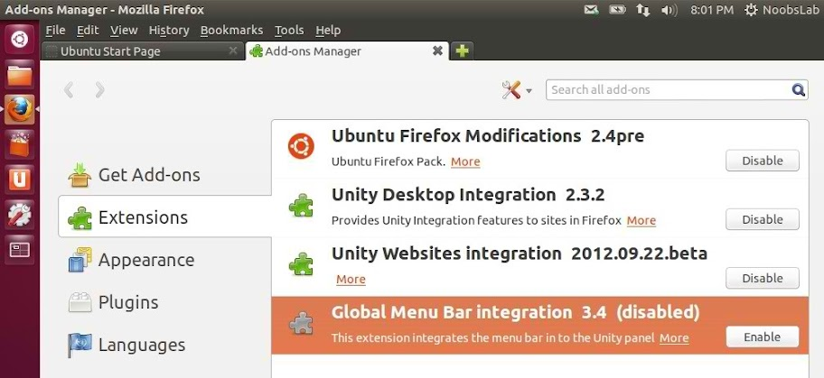 firefox global menu