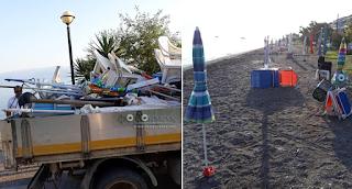 Τέλος στο παράνομο «ρεζερβέ» στην παραλία: Στα Καμμένα Βούρλα ξήλωσαν όλες τις ομπρέλες