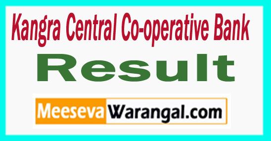 Kangra Central Co-operative Bank KCC Bank Result 2017