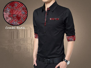 Model Baju Kemeja Batik Terbaru Warna Hitam