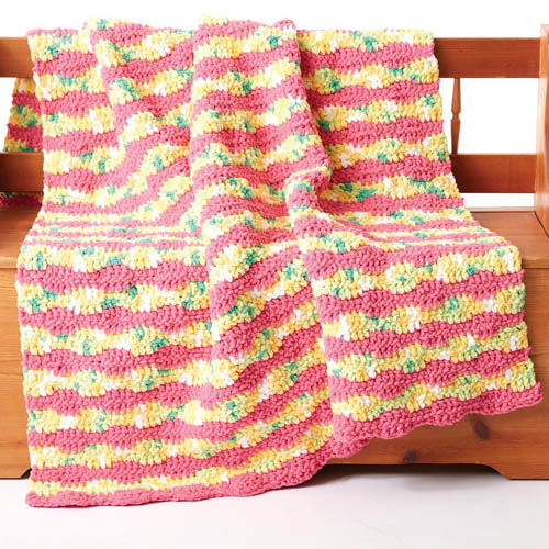 Summer Waves Crochet Blanket - Free Pattern