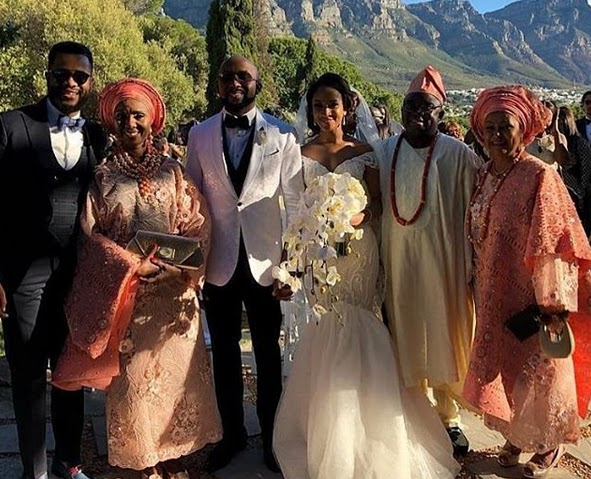 LOVELY PHOTO OF BANKY W AND ADESUA WITH THEIR PARENTS AT THEIR WEDDING
