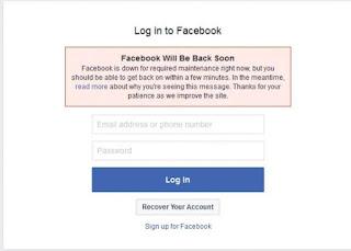 عطل فنى فى فيس بوك facebook