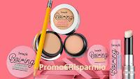 Logo Benefit Cosmetics: vinci gratis 10 Matitoni Boing con correttori e 1 borsa di prodotti