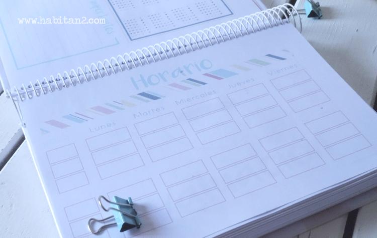 Nueva agenda escolar 2016-2017 personalizada diseño de Habitan2 | Papelería personalizada | Agenda escolar nuevo curso 2016-17