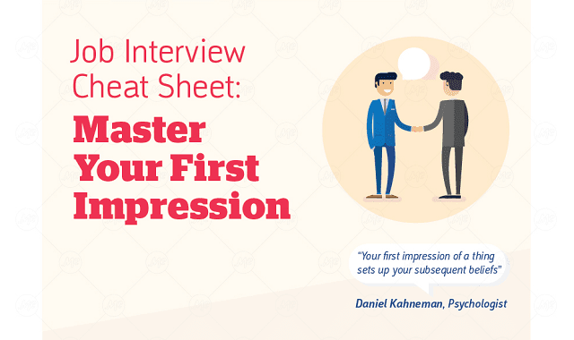 Job Interview Cheat Sheet – Master Your First Impression ...