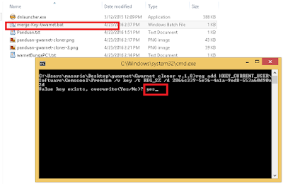 install key gwarnet ke registry windows