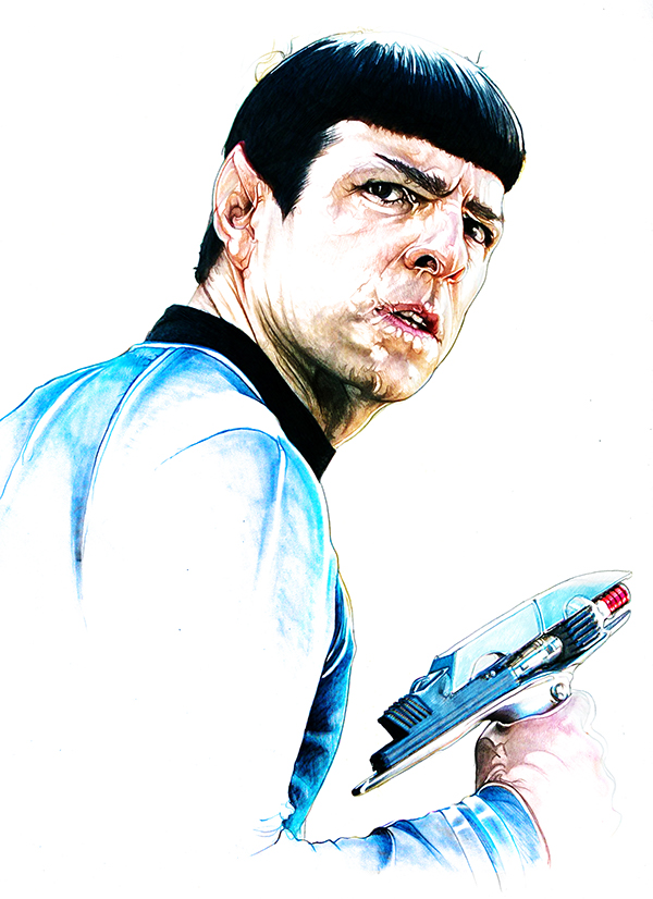 10-Zachary-Quinto-Mr-Spock-Corbyn-S-Kern-Game-of-Thrones-Star-Trek-and-Star-Wars-Character-Drawings-www-designstack-co