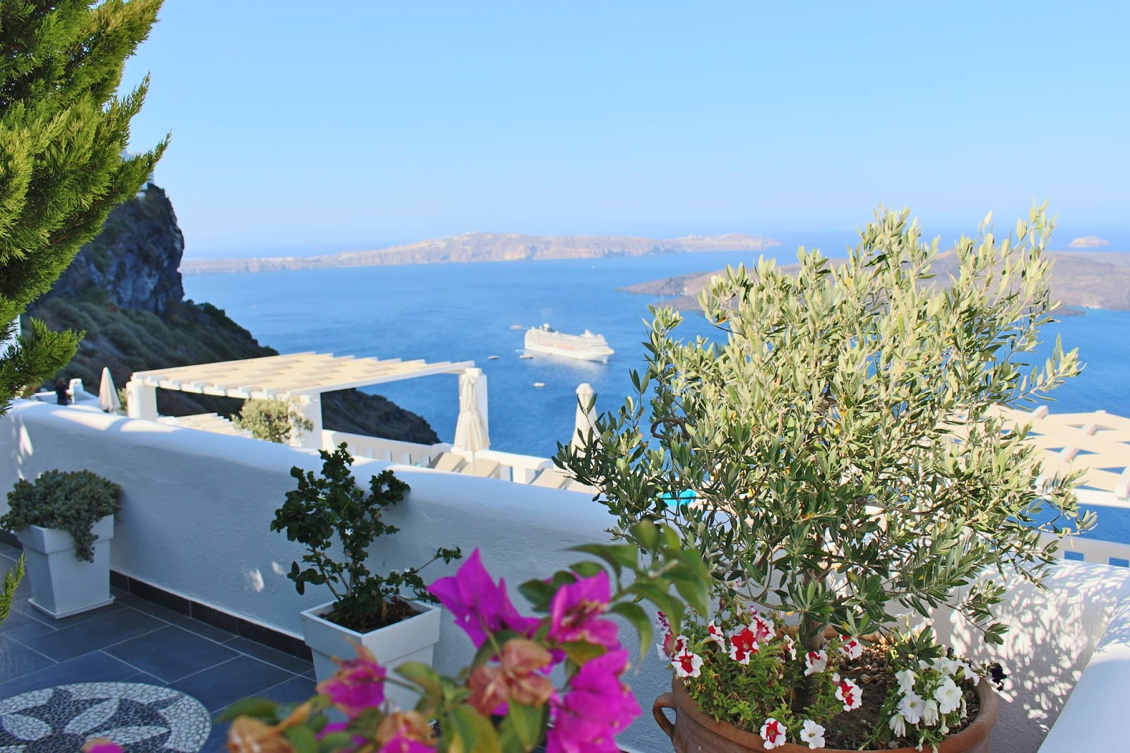 Santorini - Agali Houses View