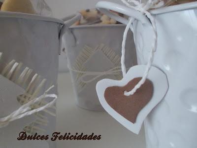 Macetas de galletas navideñas