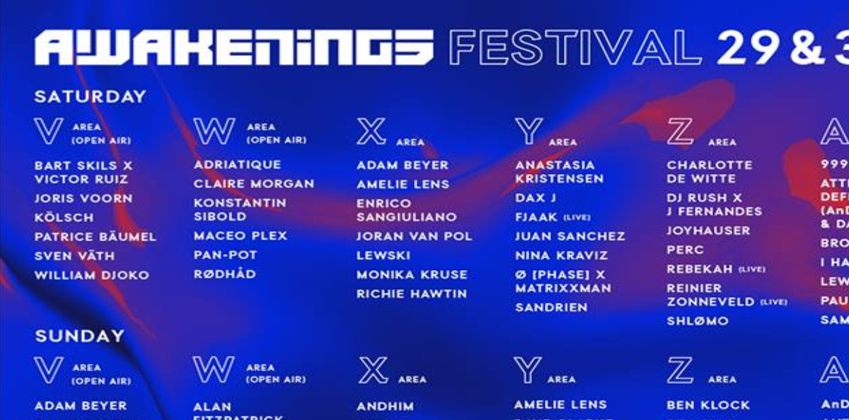 Awakenings Festival unveils th...