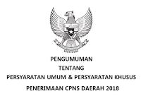 Sekda: Penerimaan CPNS Daerah Dimulai bulan April 2018