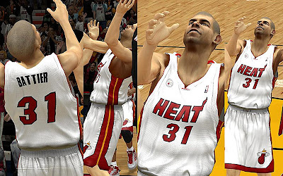 NBA 2K13 Miami Heat White Home Jersey Mod